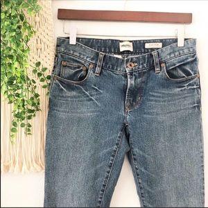 MADEWELL Blue Rails Straight Leg Mid Rise Jeans